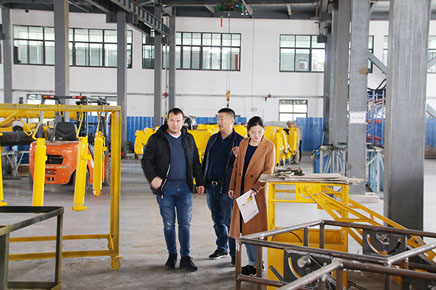 Romanian customers visit our company for field visits